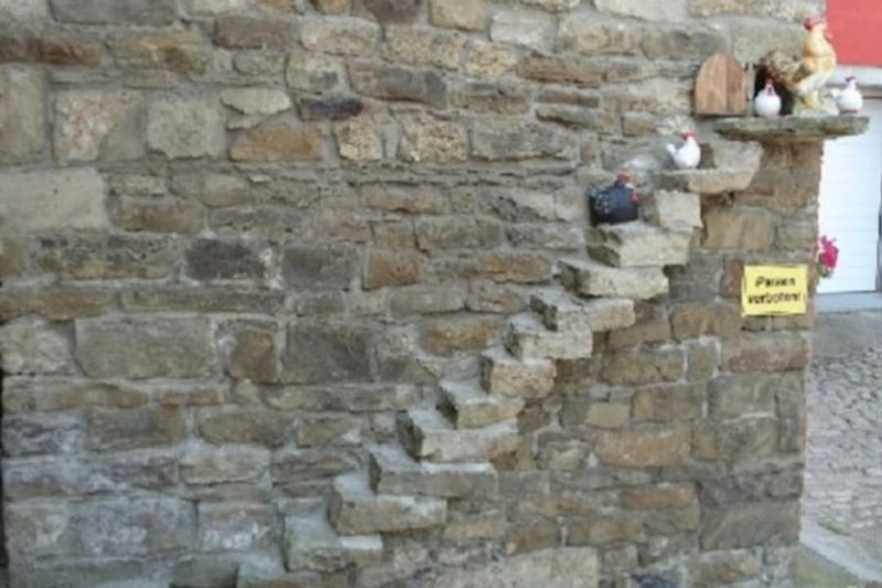 Historische Hühnerleiter