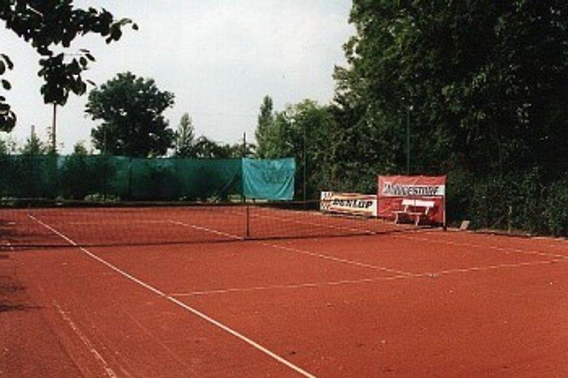 hauseigener Tennisplatz