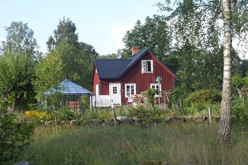 Haus in der Nachmittagssonne