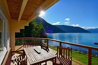 8 Personen Ferienhaus direkt am Sognefjord