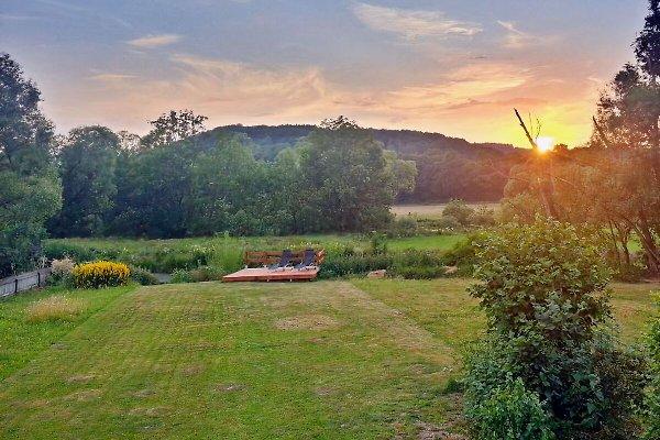 Abendaussicht von der Terrasse aus