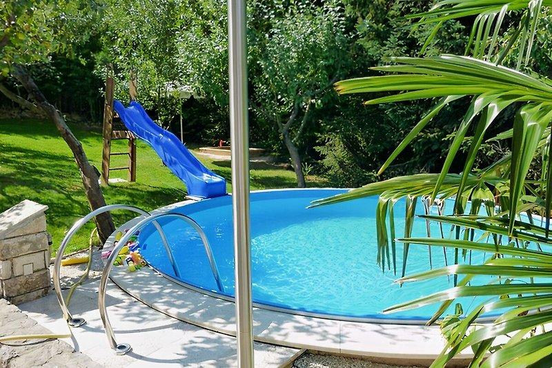 Pool Wasserrutsche