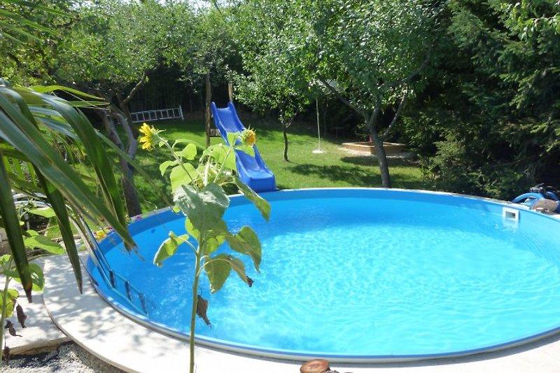 Pool Wasserrutsche Sonnenkollektor