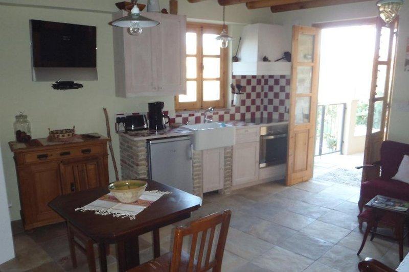 Küche und Wohnen