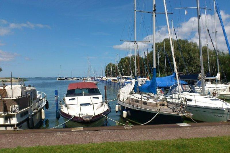 Der schöne Yachthafen von Mönkebude.