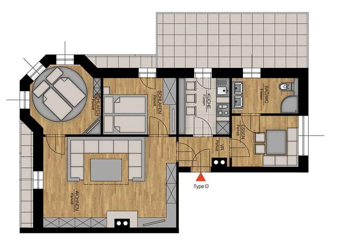 luxus apartment d luxus apartment b ferienwohnung in dienten am hochk nig mieten. Black Bedroom Furniture Sets. Home Design Ideas