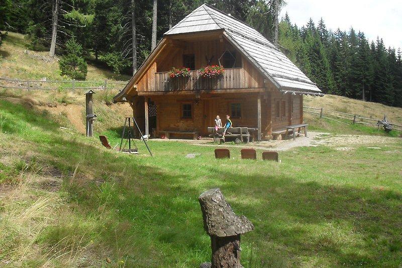 Wurzelhütte Sommer