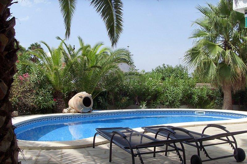 Privat Pool - Garten komplett eingezäunt