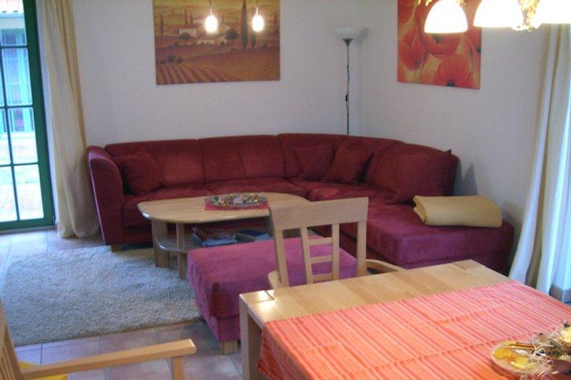 Wohn-Essbereich im Ferienhaus