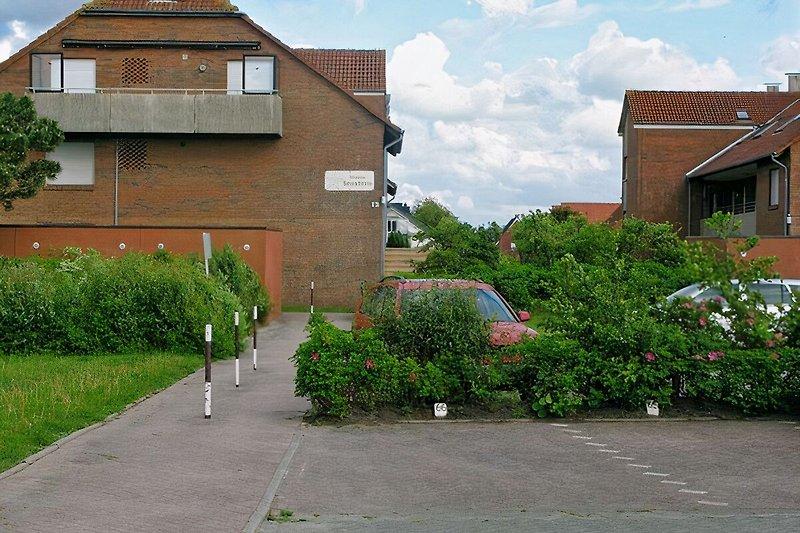Parkplatz weg zum Haus
