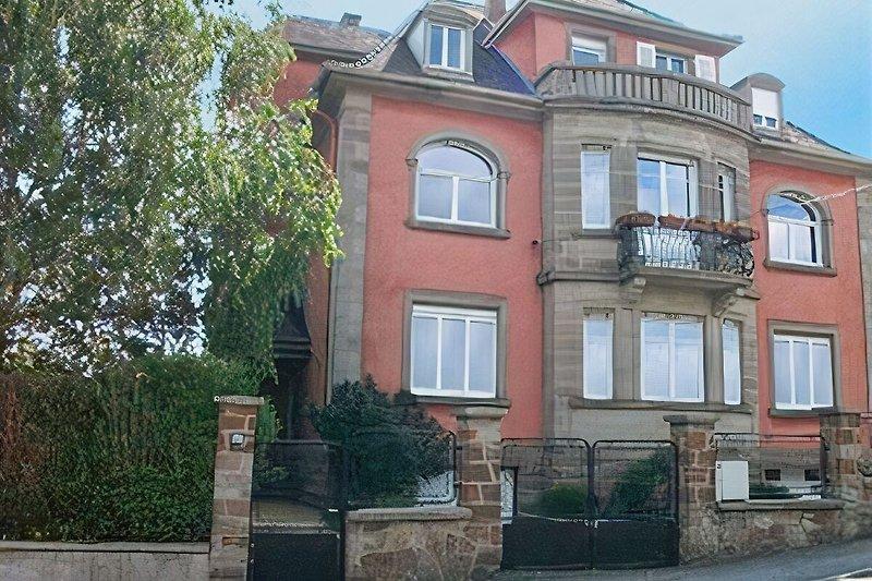 Frontansicht des Hauses - Ferienwohnung Elsass