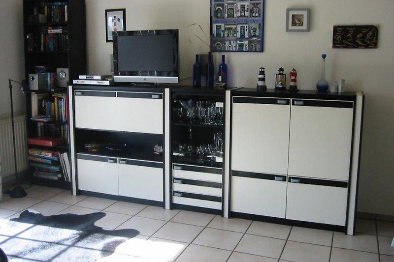 moderne Ausstattung wie Hifi und Flachbild TV