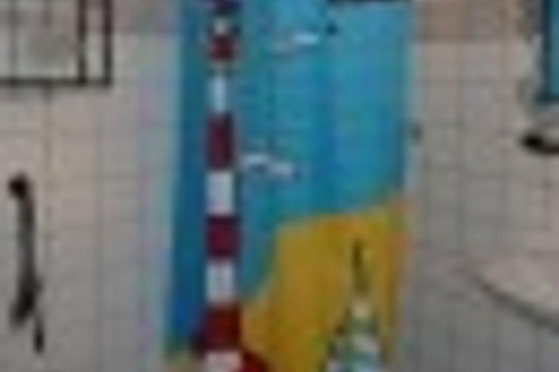 Badezimmer mit Dusche u. Waschbecken / WC ist separat