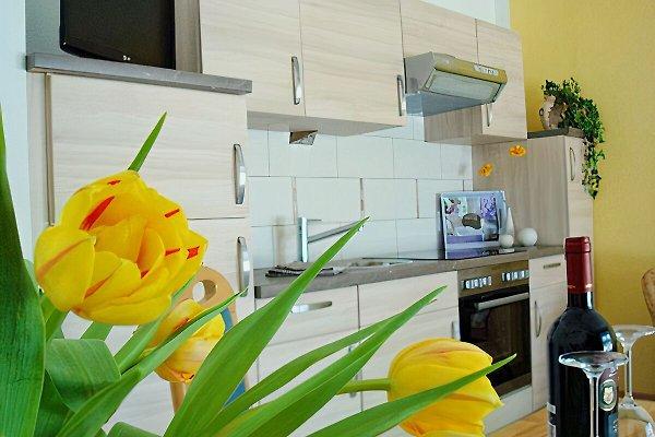 Vollausgestattete Küche mit Fußbodenheizung