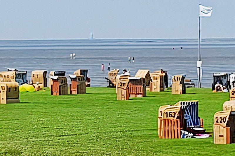 Der Strand im Feriengebiet Dorum Neufeld