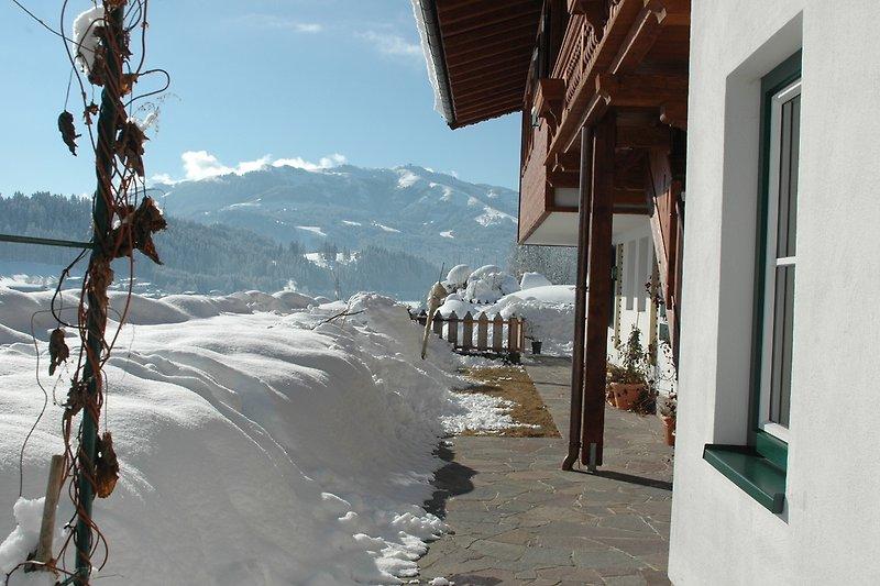 Die Terrasse im Winter