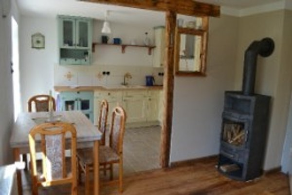 Landhausküche mit Wohn-/ Essbereich