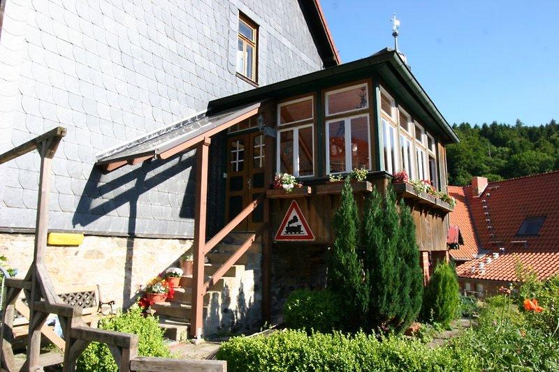 Veranda und Eingang