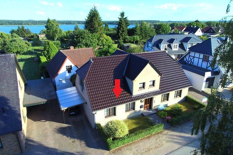 Luftbild Ferienwohnung Preuß am Schweriner See