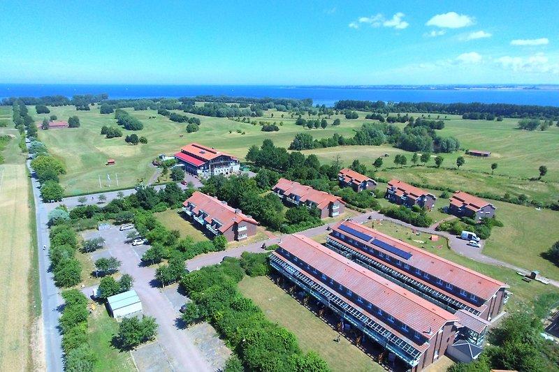 Luftbild Aparmtentanlage Hohen Wieschendorf
