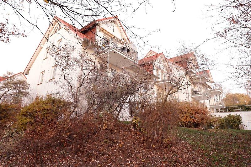 Blick auf das rückwärtige Haus