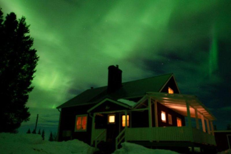 Polarlicht über Brännmyra