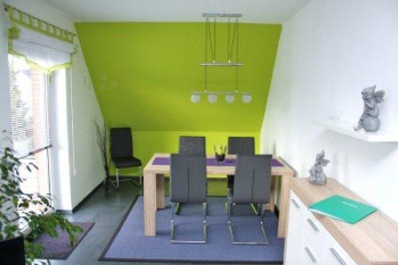 stylischer Essbereich im Wohnzimmer