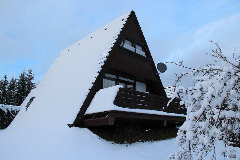 Ferienhaus Maria im Winter