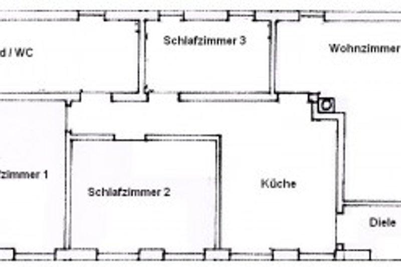 Grundriss der 96m² großen Ferienwohnung