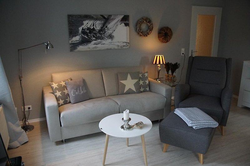 hochwertige und bequeme Möbel im Wohnzimmer