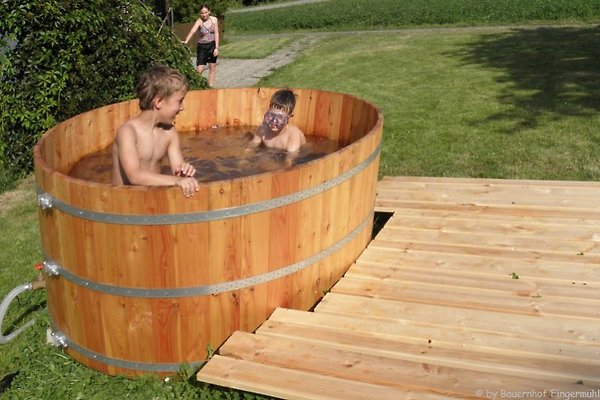Familienbauernhof bayerischer wald ferienwohnung in for Garten pool cham