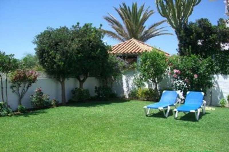 Der Garten im Süden des Hauses lädt zum Relaxen ein