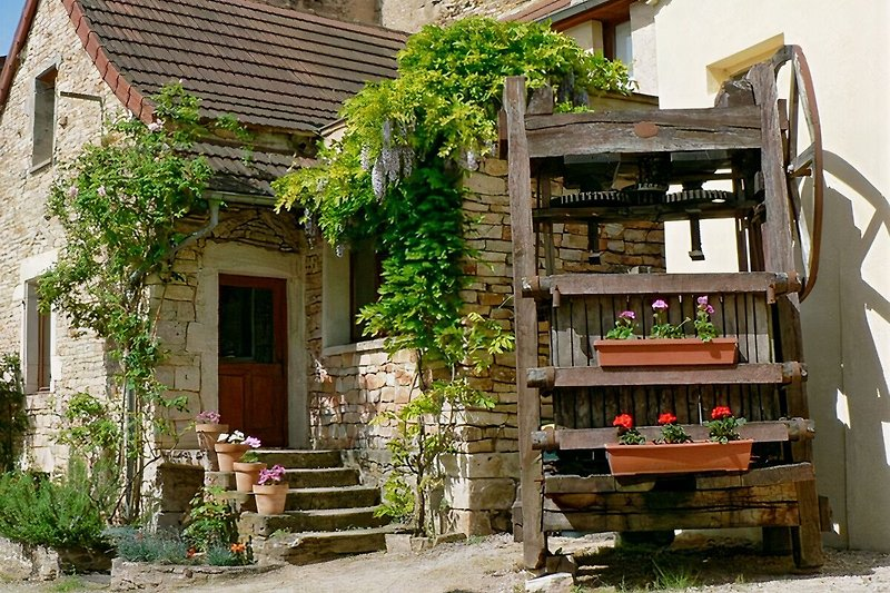 Courtyard and wine press
