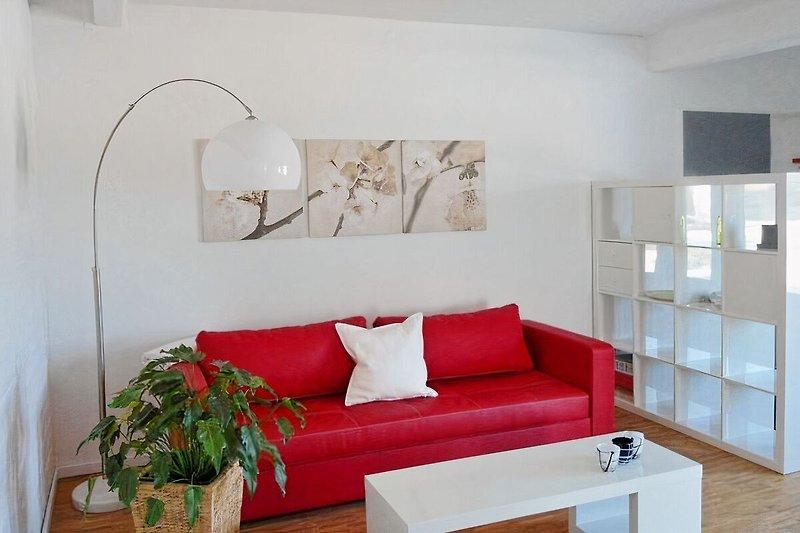 Ferienwohnung Lüneburg,Loft im Speicher, Wohnzimmer