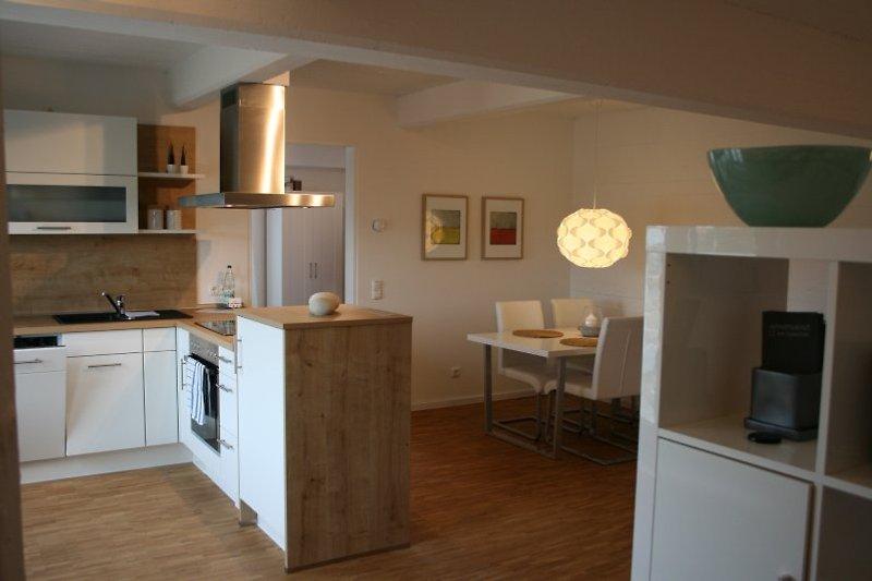 Ferienwohnung Lüneburg,Loft im Speicher, Küche