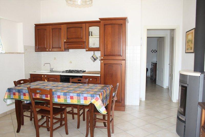 Eingang mit Wohnküche