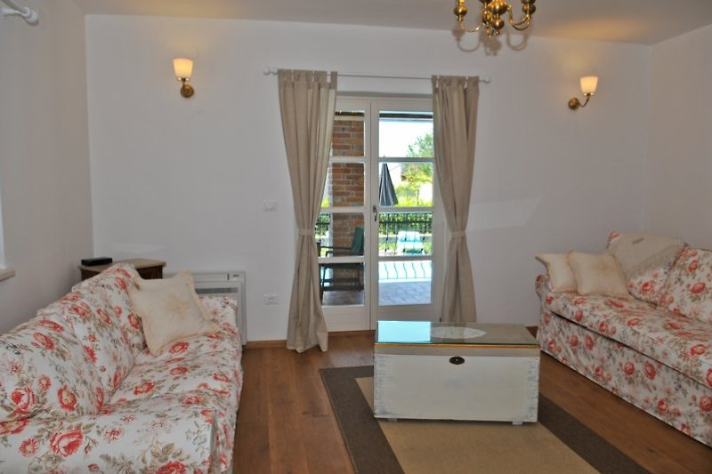 Wohnzimmer der Villa Petra
