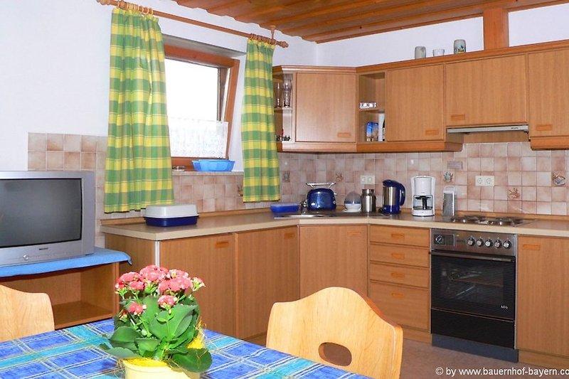 Ferienwohnungen am Bauernhof - Bild Wohnküche