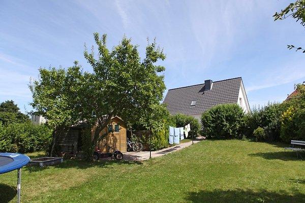 Haus mit Garten und kKinderspielzeug