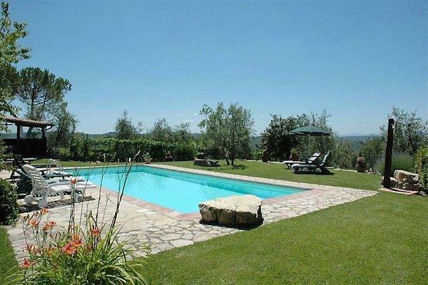 Casa Toscana Chianti con piscina en Gaiole in Chianti - imágen 1