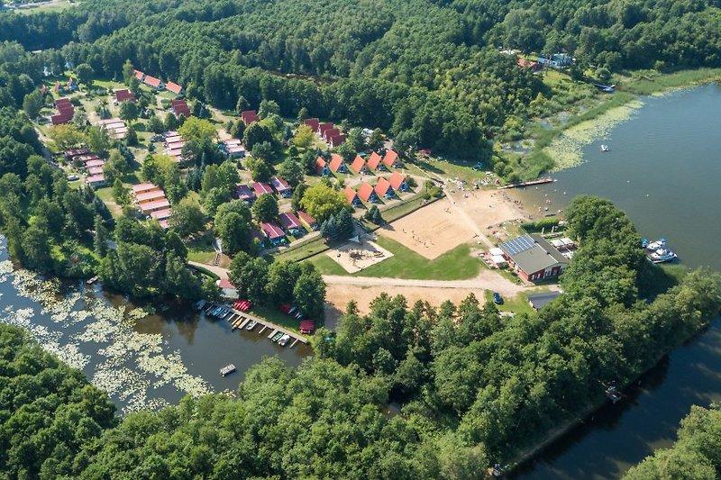 Luftbild Ferieninsel Tietzowsee