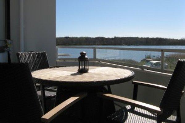 Blick vom Balkon auf den Binnensee.