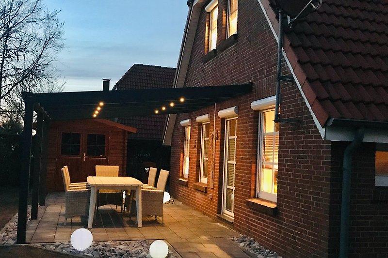 Terrasse in Abendstimung