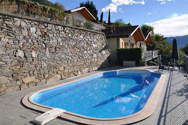 Pool und Häuseransicht
