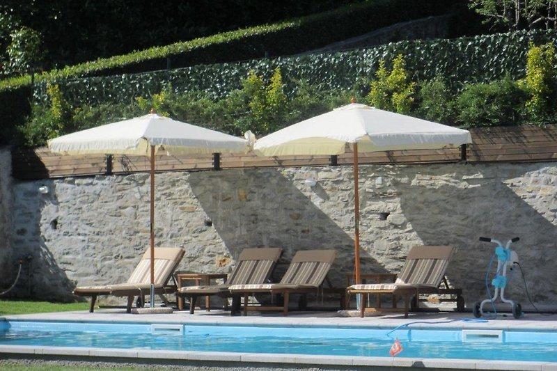 Ca. 9 m x 4 m großer Pool