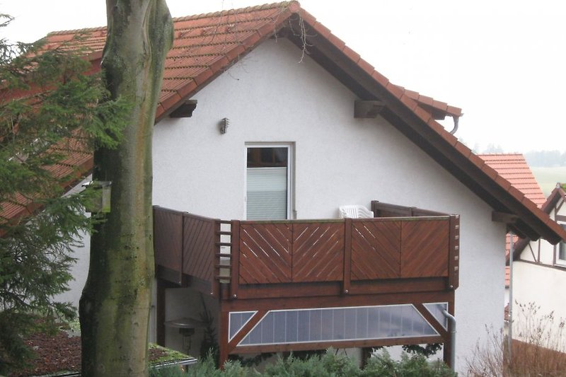 Unser 12 m² große Balkon