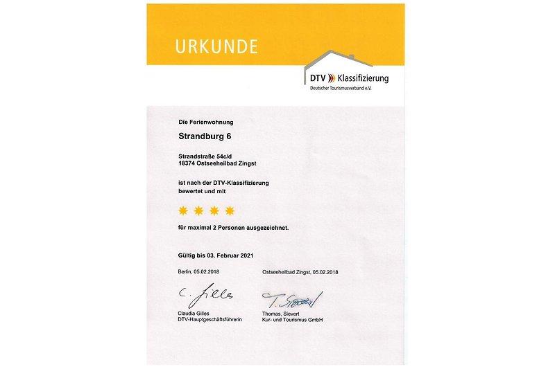 4Sterne-Zertifikat