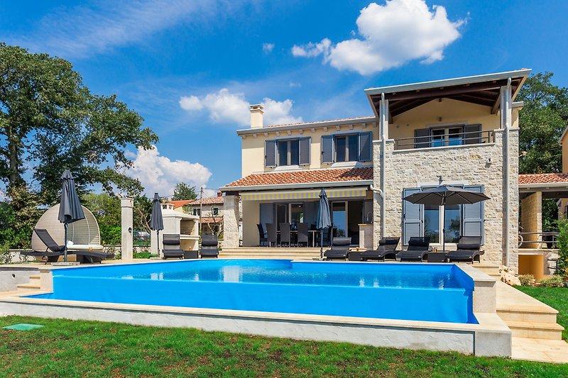 Luxury villa  Laura An mit pool in Istria - wiibuk.com
