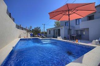 Villa Zoya with pool, beach 1km
