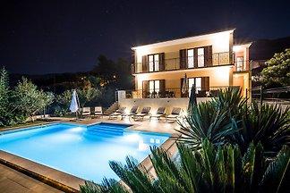 Split villa with pool